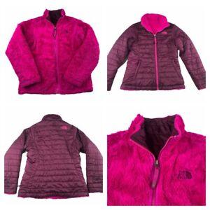 THE-NORTH-FACE-Kids-Girls-Reversible-Moss-Bud-Swirl-Jacket-Coat-Size-Med-10-12
