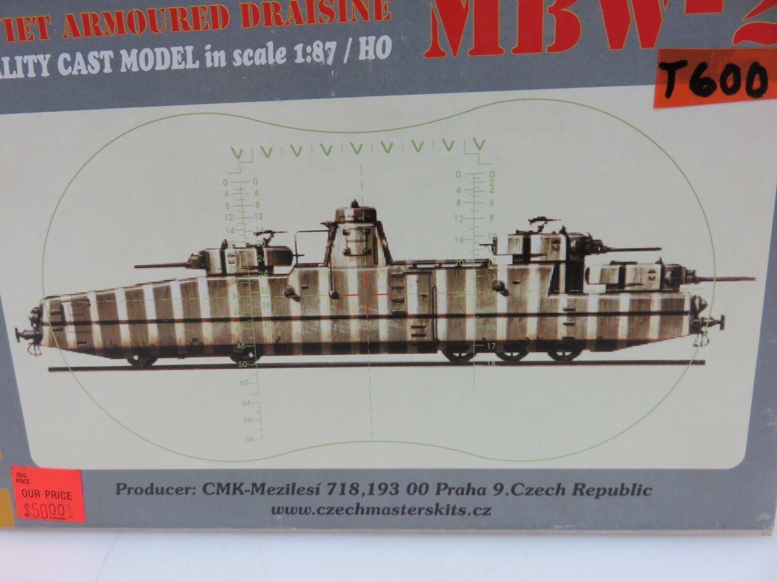 Czech Master MBW2 sovietica corazzata Draisina HO Kit modellolino in scala 187 R001 AMMINI