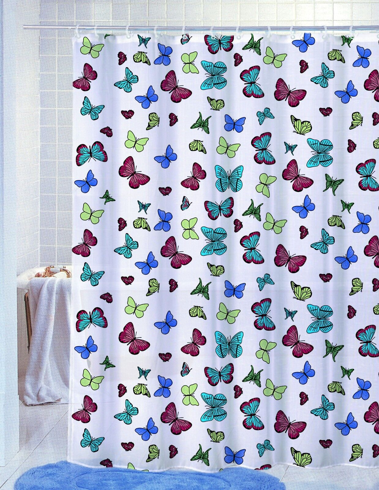 Pvc Free Peva Vinyl Printed Shower Curtain 70x72 Fun