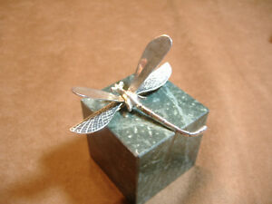 LARGE-VINTAGE-STERLING-SILVER-3-034-MEXICAN-DRAGONFLY-PIN