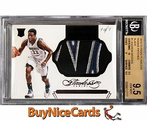 2014-15 Andrew Wiggins Flawless Jumbo Rookie RC non Auto Patch True 1/1 BGS 9.5