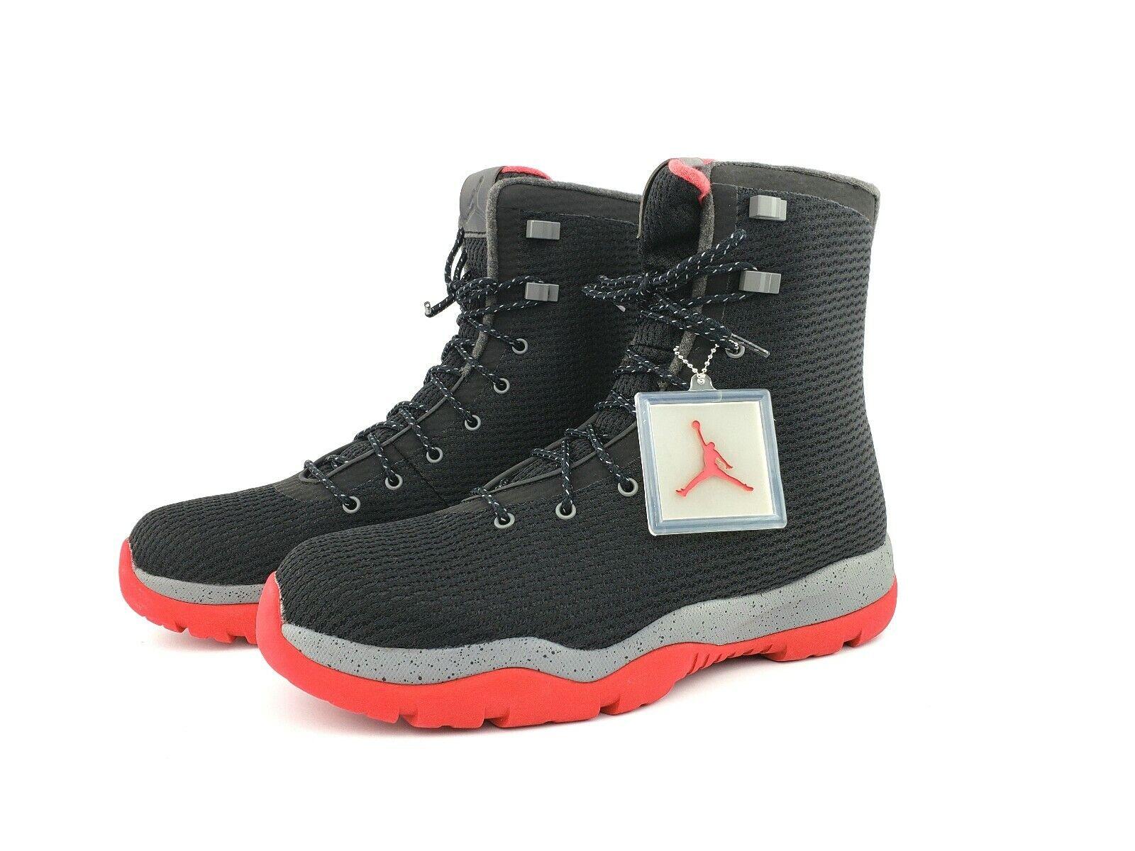 Nike Air Jordan Future Boot Black Red Mens Sneaker Boots Sz 12.0 New 854554-001