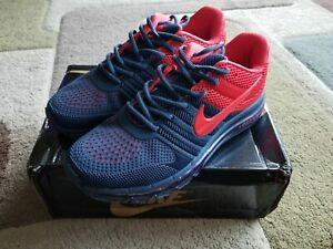 new arrival 00dda ce171 Details about NIKE AIR MAX 2017 Men's Running Shoes Navy Blue Red size 8.5