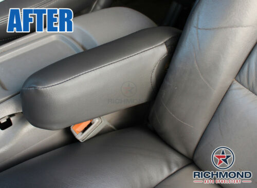 1999 Chevy Silverado Leather Seat Z71-Driver Side Replacement ARMREST Cover Gray