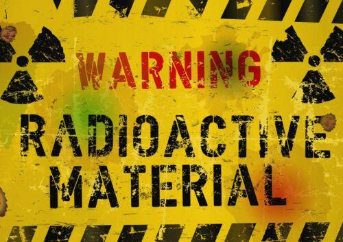 A1 Warning Radioactive Hazard Poster Art Print 60 x 90cm 180gsm Cool Gift #14617