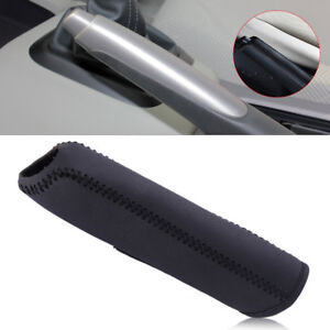 Black-Leather-Hand-Brake-Cover-Protective-Sleeve-Fit-for-Honda-Civic-2004-2011