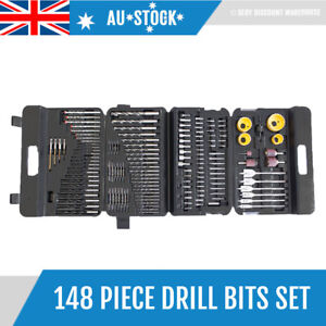 148 Pcs Drill Bits Set Wood Timber Hole Saw Driver Bits Metal Masonry Tool Set