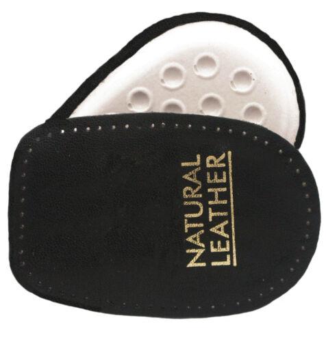 Cushion Heel Pads Leather Upper Black