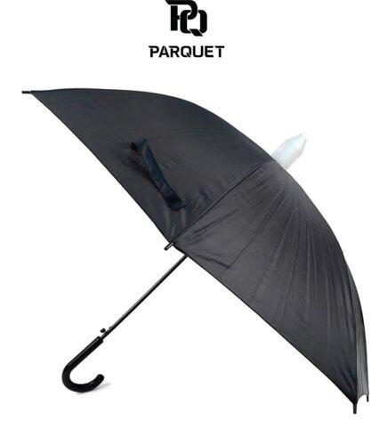 Black Canopy Umbrella with Plastic Cover with Auto Open