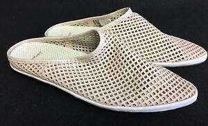 Details about  /SANUK KAT SCUFFLE LIMITED LEATHER POINTED TOE SLIP ON FLATS Blush WOMENS 5 6
