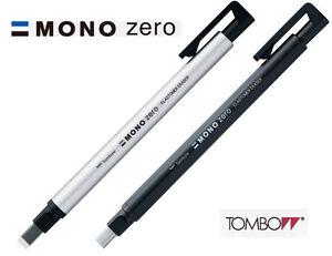 Tombow-MONO-Zero-Rectangular-Eraser-2-5-x-5mm-Choice-of-Black-or-Silver-barrel