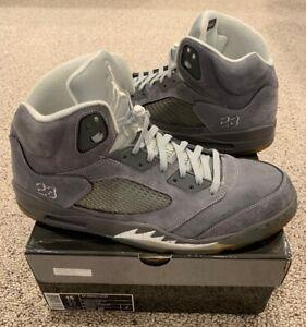 sports shoes cc9ce 8cb2b Image is loading Nike-Air-Jordan-Retro-5-V-Wolf-Grey-