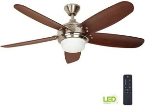 Home Decorators Collection Ceiling Fan Kit 56 Inch Remote Control Brushed Nickel 82392515584 Ebay