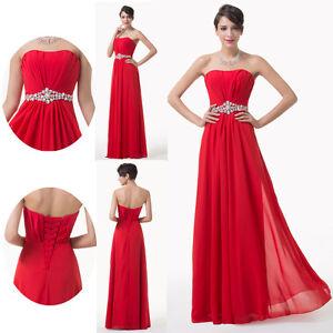 rot lang abendkleid hochzeitskleid brautjungfer partykleid brautkleid dress 2015 ebay. Black Bedroom Furniture Sets. Home Design Ideas