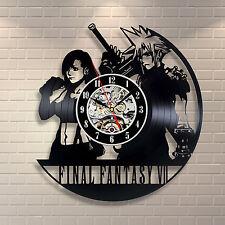 Final Fantasy VII Anime Game Play Vinyl Record Wall Clock