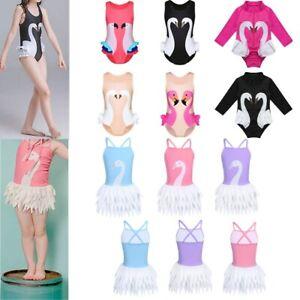 Baby-Girls-Swan-Printed-Swimwear-Kids-One-Piece-Swimsuit-Bathing-Suit-Rash-Guard