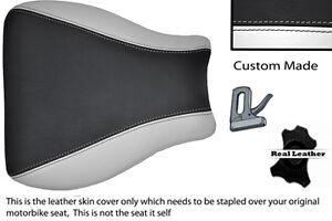 WHITE-amp-BLACK-CUSTOM-99-07-FITS-SUZUKI-HAYABUSA-GSX-1300-LEATHER-SEAT-COVER