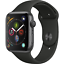 Apple-Watch-Series-4-GPS-44mm-Space-Gray-Case-with-Black-Sport-Band-MU6D2LL-A thumbnail 1