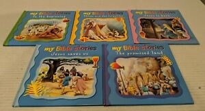 Lot-of-5-My-Bible-Stories-Children-039-s-Bible-Books-Creation-Old-amp-New-Testament-HC