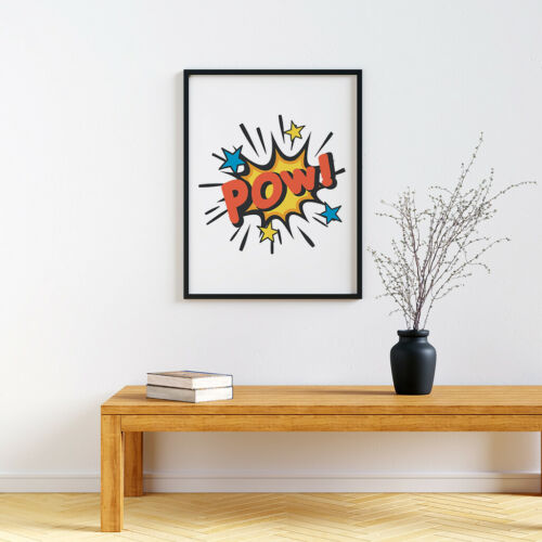 Pow Pop Art Style Print Children/'s Playroom Poster Fun Artwork For Kids