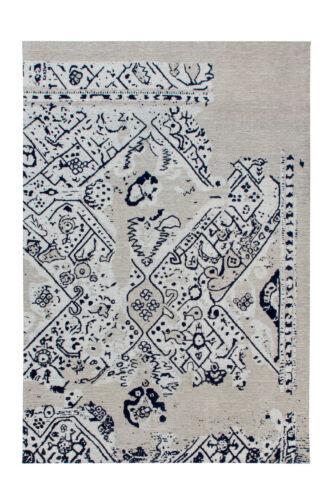 Vintage Tapis Aspect Use aztec aztèque Design Gris Crème Bleu Noir