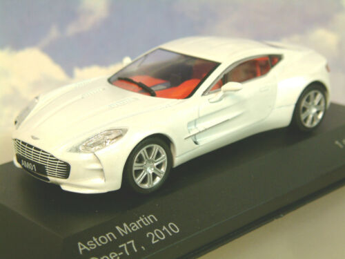 WHITEBOX MODELS DIECAST 1//43 2010 ASTON MARTIN ONE-77 IN PEARLESCENT WHITE WB159