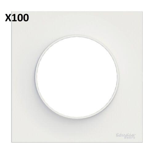 Carton de 100 Plaques simple blanc SCHNEIDER Odace Styl S520702 ou S523702P