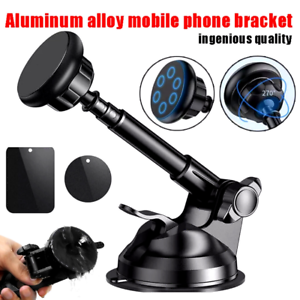 Car Dashboard Windshield Phone Holder Magnetic Telescopic Mount Stand GPS Cradle