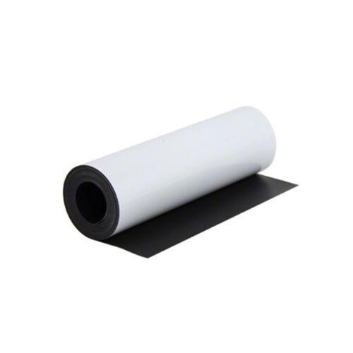 Magnetfolie weiß matt beschichtet 0,8mm x  62cm x 100cm Meterware