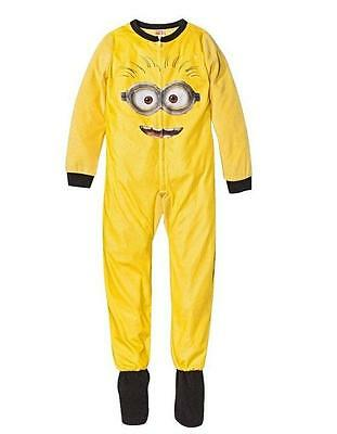 J03 -  Minion Despicable Me2  Kids Onesie Footed Pyjamas PJs Size M ( 7-8 Yrs )
