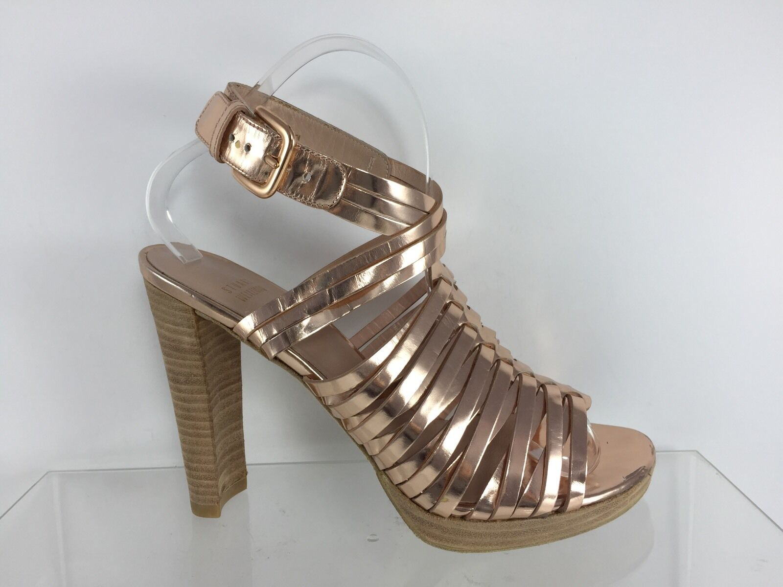 Stuart Weitzman Womens Metallic Bronze Heels 7 M
