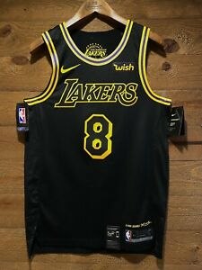 Kobe Bryant #8 Lakers City Edition Lore Series BLACK MAMBA! NWT ...