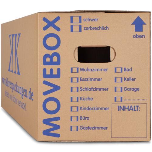 50 Profi Umzugskartons Umzug Karton 2-wellig 40kg Umzugskisten Movebox Midori-Eu