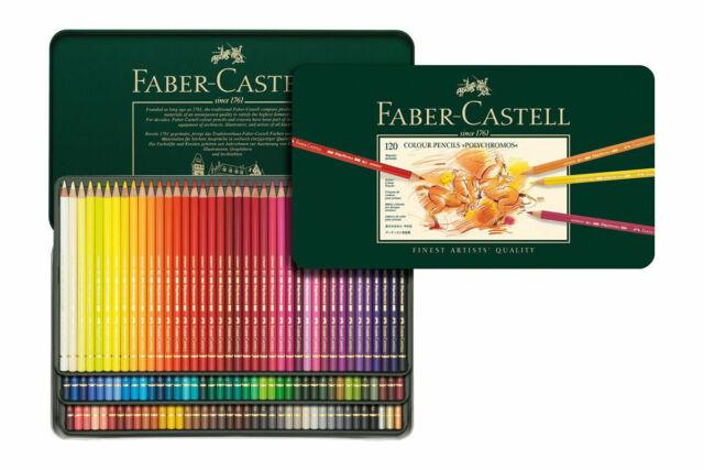 Faber-Castell Polychromos 120 Tin Pencils Artist Colour Colouring Set