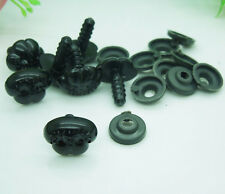 100Pcs Black Plastic Noses For Teddy Bear,Puppy,Doll,Stuffed Animal Toy 15*12mm