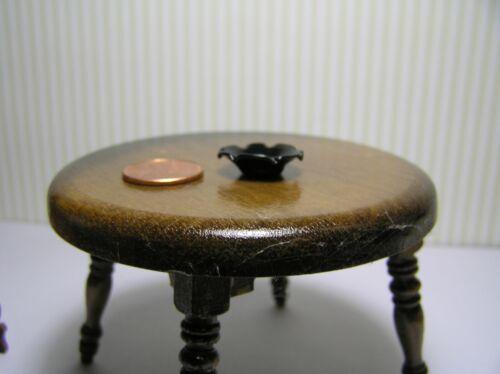 """X 1//4/"""" H Miniature Dollhouse Large Black Scalloped Bowl 3//4/"""" dia"""