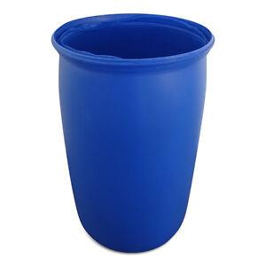 BANDTILEFass Tonne Wasserfass Regentonne Wassertonne 220 L blau Kunststoff
