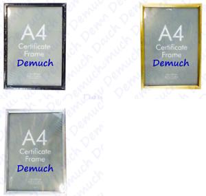 Nouveau-document-A4-Certificat-Cadre-Photo-Image-Award-Cadre-Or-Argent-Noir