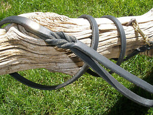 BLACK-LATIGO-LEATHER-DOG-LEASH-3-8-034-X-6-039-8-034-SOLID-BRASS-SNAP-amp-RIVETS
