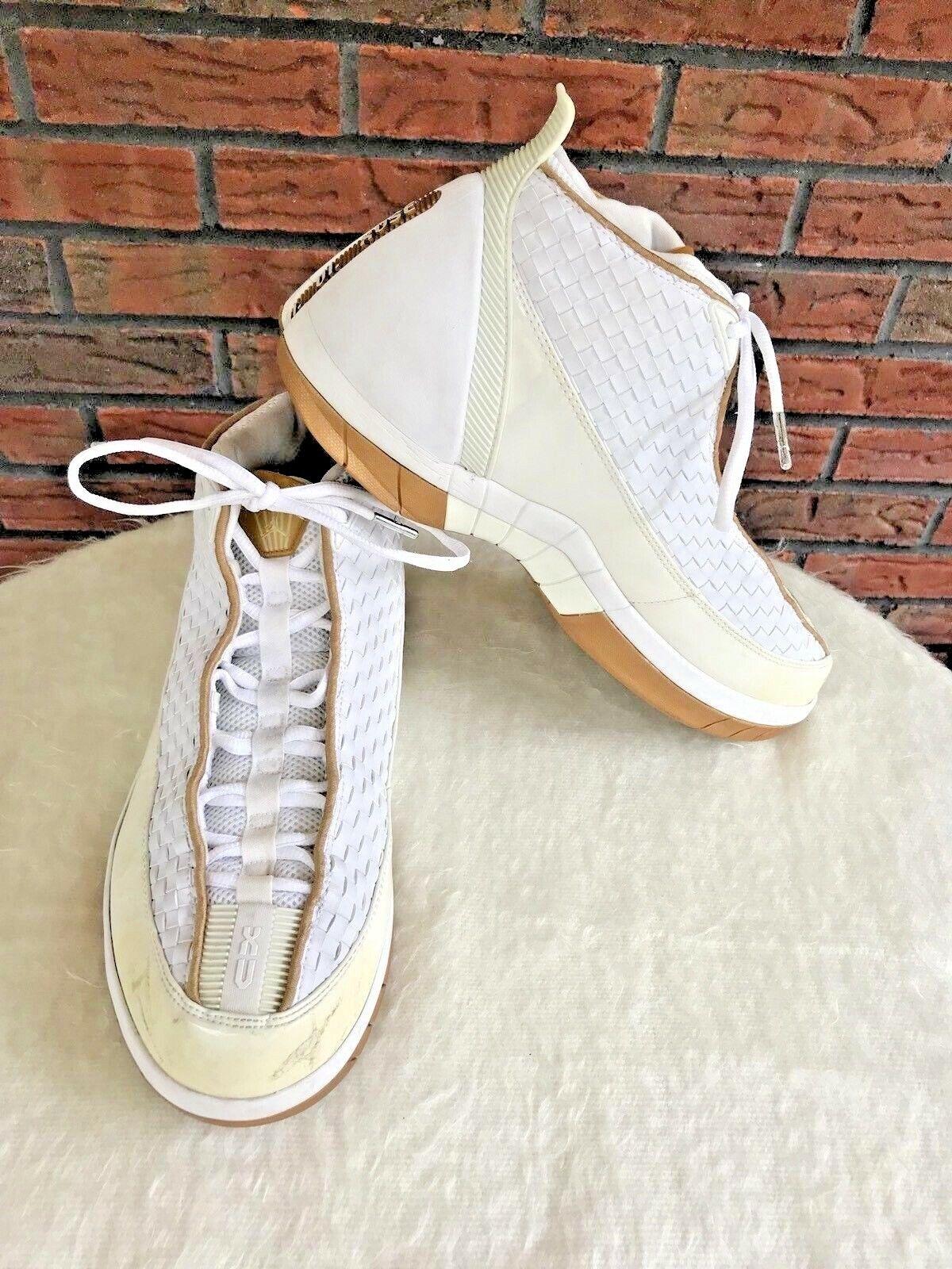 Nike Air Jordan XV SE Size 11.5 High Top Tennis shoes White gold Silver Leather