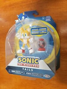 Sonic-The-Hedgehog-TAILS-with-Fast-Shoe-Item-Box-4-034-Wave-5-Jakks-Figure-NEW