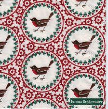 4x PAPER NAPKINS for Decoupage EMMA BRIDGEWATER RED STARGAZER LILY Christmas