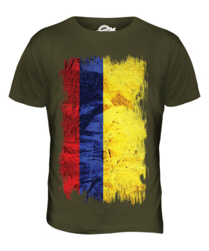 COLOMBIA GRUNGE FLAG MENS T-SHIRT TEE TOP COLOMBIAN SHIRT FOOTBALL JERSEY GIFT