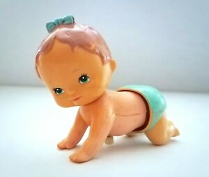Vintage-1977-TOMY-Kid-A-Long-Waddling-Toddling-Wind-Up-Toy-Crawling-Baby-Girl