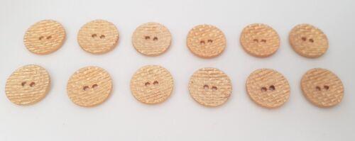 Conjunto de 12 X 18 mm Oro Waffle Diseño Botones 2 agujero Costura Plana Chaqueta de Tejer