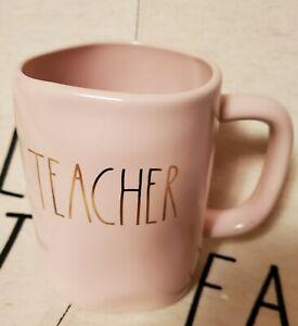 Rae-Dunn-Artisan-Collection-By-Magenta-034-Teacher-034-Mug-in-Pink