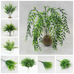 Nice-Green-Leaves-Artificial-Grass-Fake-Leaf-Greenery-Foliage-Plant-Home-Decor
