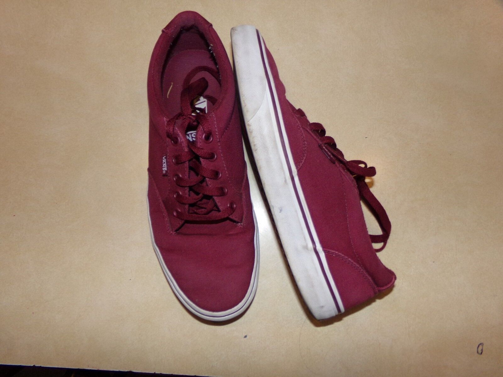 Vans Mens Sneakers Burgundy  Canvas Shoes Sneakers Mens Size 10 ce978e