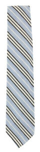 Finamore Napoli Light Blue Striped Silk Blend Tie - x - (934)