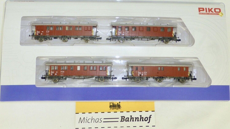 Sbb-Cff Suisse Oldtimerwagen Construction Ensemble Train Piko 94346 N 1 160 Neuf